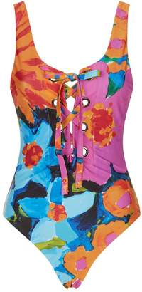 Mara Hoffman Desa Lace-Up Swimsuit