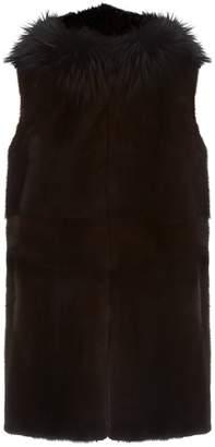 Lilly E Violetta Reversible Fox Fur Gilet