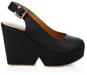 Clergerie Women's Dylan Slingback Wedge Heels - Black - Size 36 (5.5)