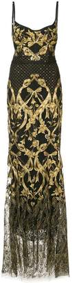 Marchesa embroidered corset gown