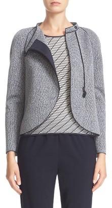 Women's Armani Collezioni Bonded Jacquard Jacket $1,025 thestylecure.com