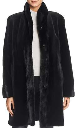 Maximilian Furs Reversible Sheared Mink Fur Coat