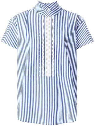 Paul Smith short sleeve striped blouse