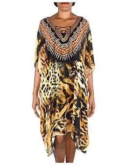 Bondi Beach Bag Company Tigress Kaftan - Length 1M
