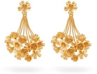 Oscar de la Renta Geranium Drop Earrings - Womens - Gold
