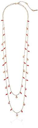 Kenneth Cole New York items gold multi-row with stones and beads strand necklace