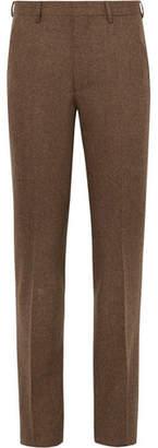 Noah Brown Slim-Fit Donegal Wool-Tweed Suit Trousers