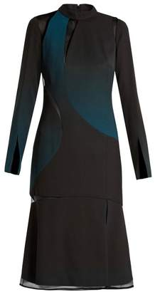 Versace Cut Out High Neck Layered Dress - Womens - Black Multi