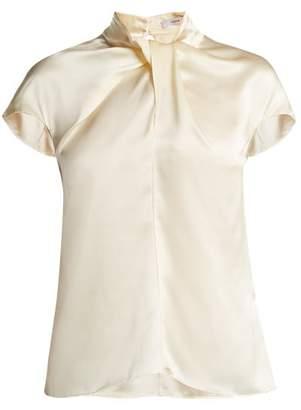 Erdem Fianna Cap Sleeved Silk Blouse - Womens - Ivory