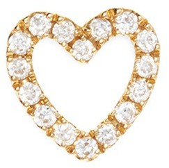 Loquet London Diamond 18k yellow gold 'Heart' charm - With Love