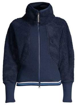 adidas by Stella McCartney Training Fleece Bomber Jacket