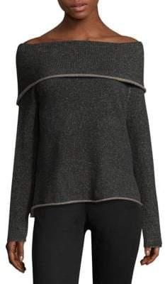 Eileen Fisher Cashmere-Blend Off-The-Shoulder Top