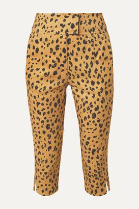 Nicholas Cropped Leopard-print Tencel-blend Slim-leg Pants