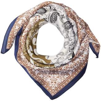 San Diego Hat Company BSS3539 Square Woven Scarf with Paisley Print Scarves