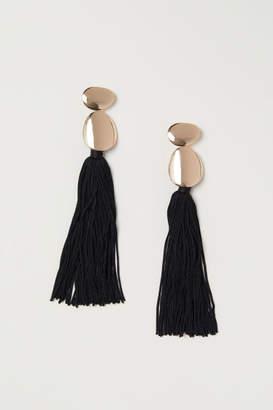 H&M Tasseled Earrings - Gold