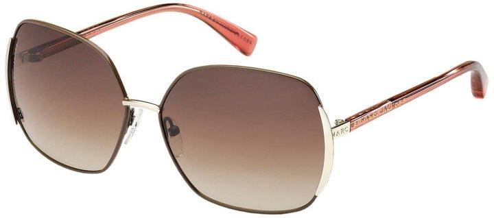 Oversized Metal Retro Frame Sunglasses