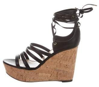 Tamara Mellon Leather Wedge Sandals