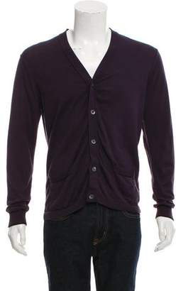 Paul Smith Rib Knit V-Neck Cardigan