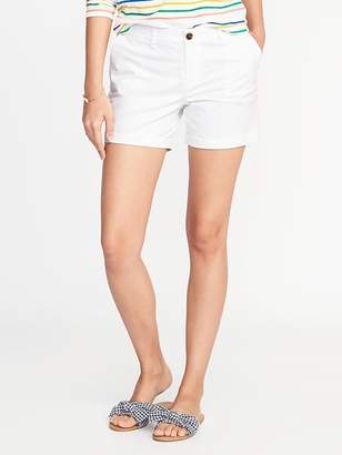 Old Navy Mid-Rise Everyday Twill Shorts For Women - 5 inch inseam