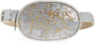 Steve Madden Sequin Faux Leather Belt Bag