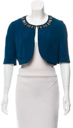Matthew Williamson Embellished Silk Cropped Jacket