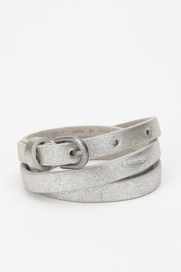 BDG Metallic Skinny Belt