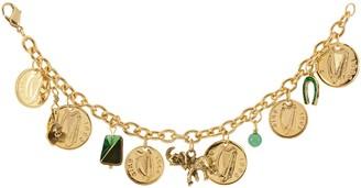 American Coin Treasures Gold Layered Irish Coin Charm Bracelet