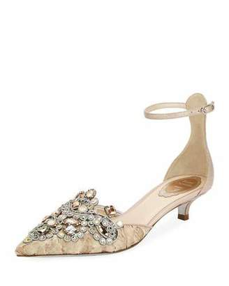 Rene Caovilla Embellished Lace 35mm Pumps