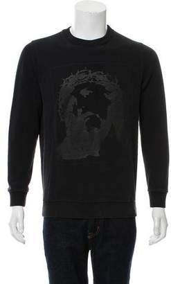 Givenchy Jesus Print Pullover Sweatshirt