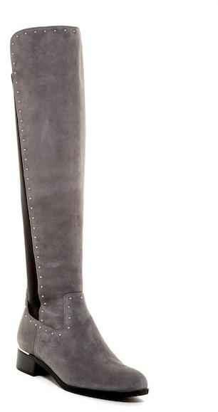 Calvin Klein Cynthia Studded Riding Boot - Wide Calf