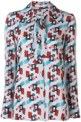 L'Autre Chose printed pussy bow shirt