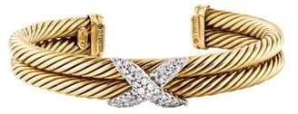 David Yurman 14K Diamond X Bracelet