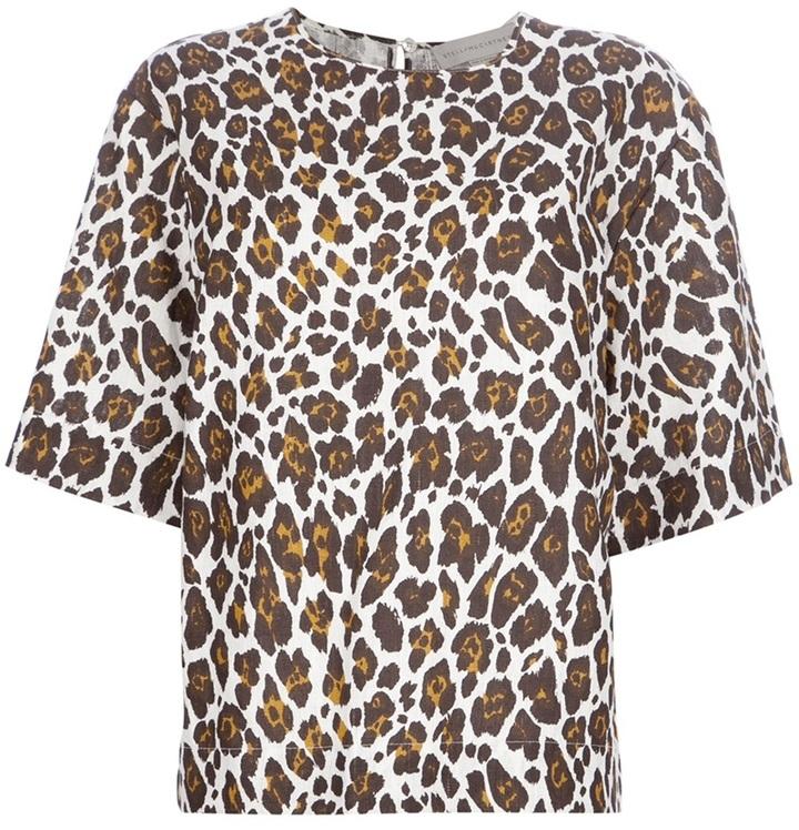 Stella McCartney leopard print blouse