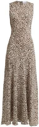 Raey Painterly leopard-print silk midi dress