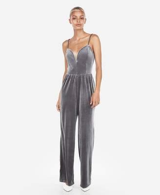 Express Velvet V-Wire Cami Jumpsuit