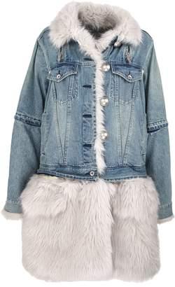 Sacai Denim Faux Fur Coat
