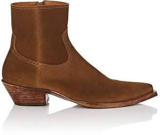 Saint Laurent Women's Lukas Suede Ankle Boots