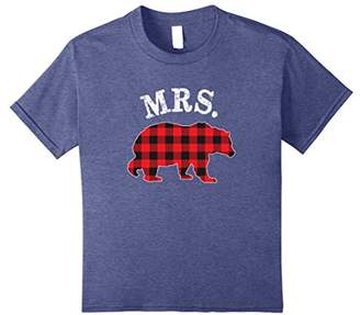 Red Plaid Mr. & Mrs. Bear Matching Family Pajama T-Shirt