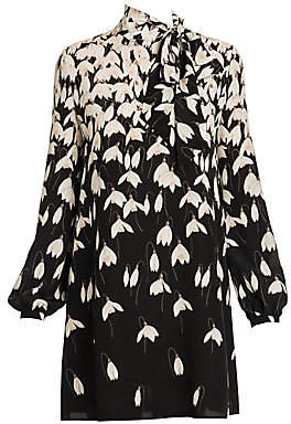Valentino Women's Floral Silk Tunic Dress