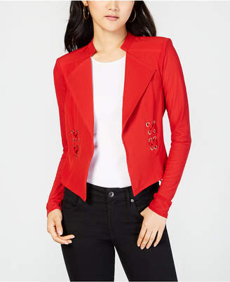 Material Girl Juniors' Illusion Lace-Up Blazer