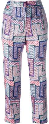 MSGM geometric print trousers