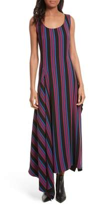 Diane von Furstenberg Stripe Scoop Neck Maxi Dress