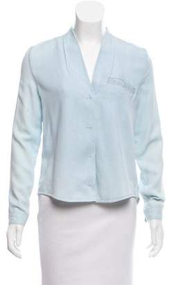 Won Hundred Long Sleeve Button-Up Top