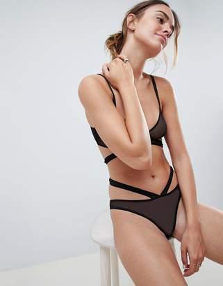 Asos DESIGN Mesh Hipster Bikini Bottom