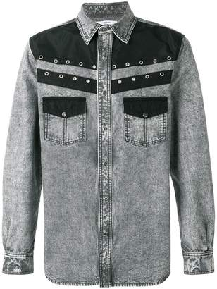 Givenchy eyelet denim shirt