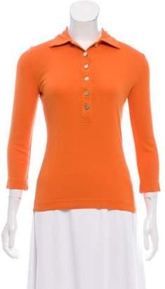 Tory Burch Long Sleeve Polo Shirt