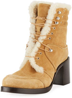Tabitha Simmons Leo Suede Lace-Up Booties