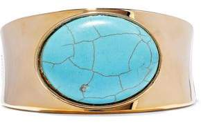 Kenneth Jay Lane 22-karat Gold-plated Stone Cuff