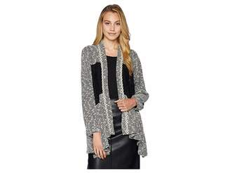 Miss Me Cardigan w/ Contrast Lace Fabric