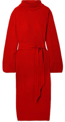 Nanushka - Canaan Ribbed-knit Turtleneck Midi Dress - Red